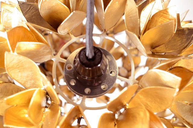 アイテム画像(シェルフラワーランプ Sサイズ ゴールド)メイン