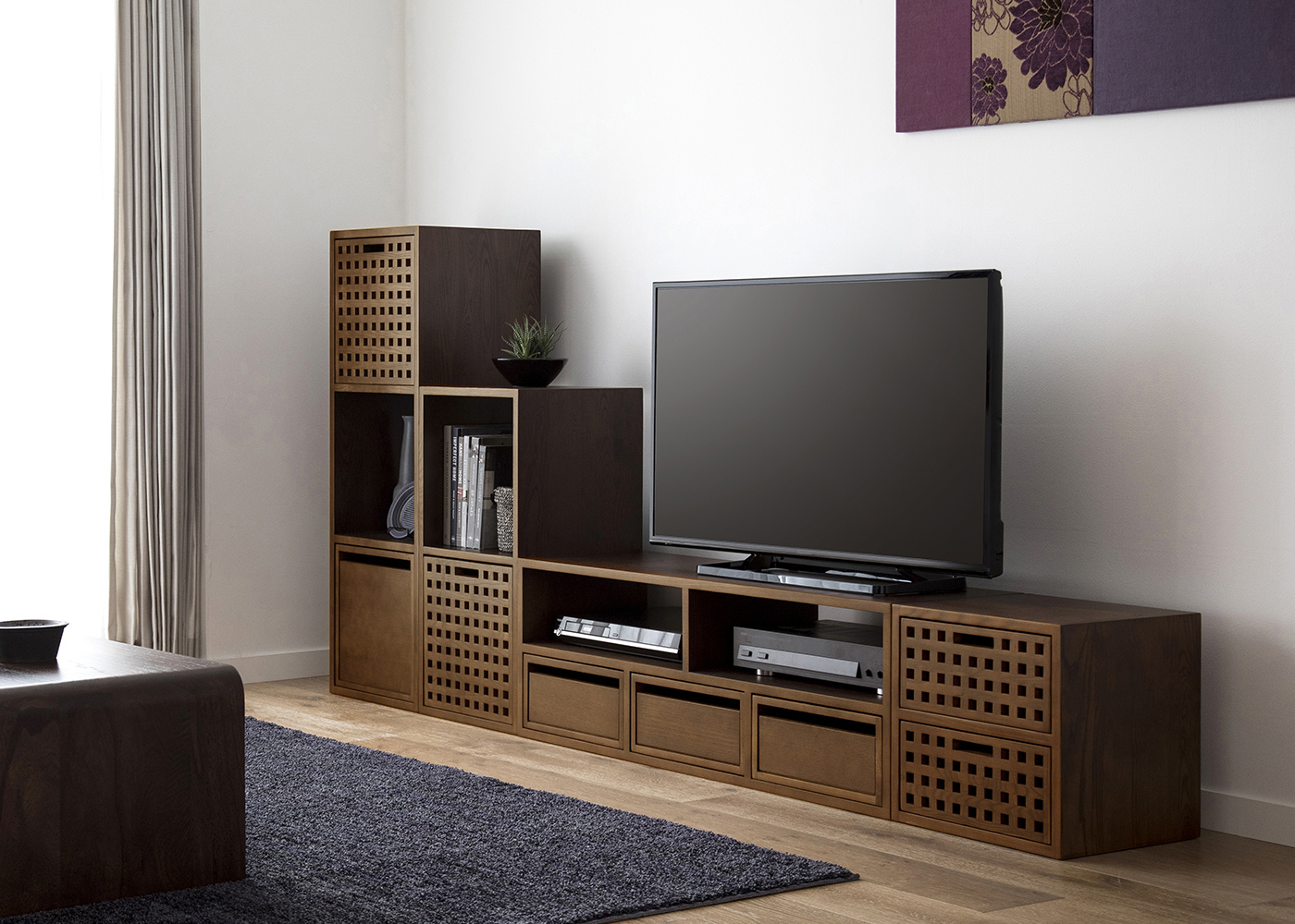 アイテム画像(キューブ・テレビボード (GB) v03セット)メイン