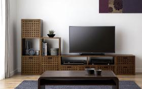 このコーディネートシーンで使われているアイテム画像(キューブ・テレビボード (GB) v03セット)
