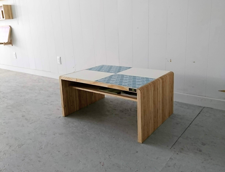 アイテム画像(KOTAオリジナル 和柄センターテーブル(和柄ブルー&ホワイト))メイン
