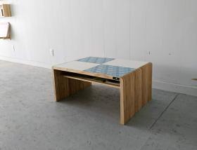 アイテム画像(KOTAオリジナル 和柄センターテーブル(和柄ブルー&ホワイト))サムネイル