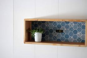 アイテム画像(KOTAオリジナル 和柄箱型飾り棚(和柄ブルー))サムネイル