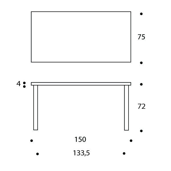 アイテム画像(Artek アルテック テーブル81A ホワイト (アルヴァ アアルト))メイン