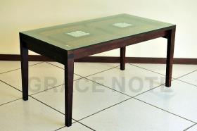 アイテム画像(ガラス天板の彫刻が高級感を醸しだすダイニングテーブル)サムネイル
