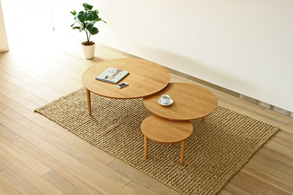 この商品に似ているアイテム画像(バルーン リビングテーブル 90-3 AL|高野木工)