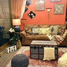 コーディネートシーン画像(ミックススタイルリビング638|Ashley Furniture Homestore 横浜店)